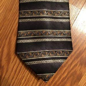 Vintage Barrington Black Striped Necktie